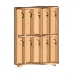Шкаф для полотенец напольный 5-и местный