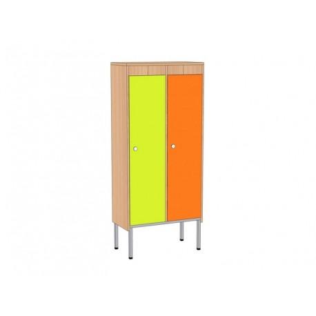 Шкаф для детской одежды, 2-секционный, на мет.каркасе