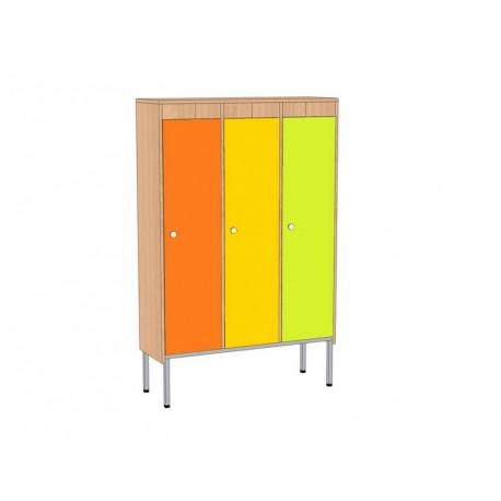 Шкаф для детской одежды, 3-секционный, на мет.каркасе