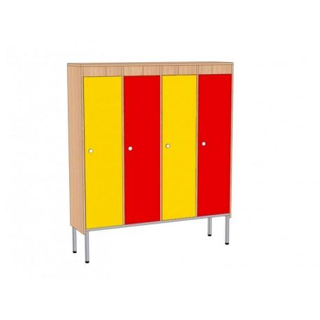 Шкаф для детской одежды, 4-секционный, на мет.каркасе