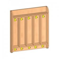 Шкаф для полотенец навесной 5-и местный